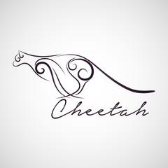 Cheetah logo vector