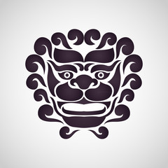 Chinese lion logo