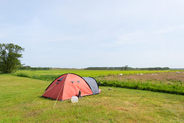 Tent in meadows