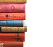 Leinwanddruck Bild - Stack of books on white background