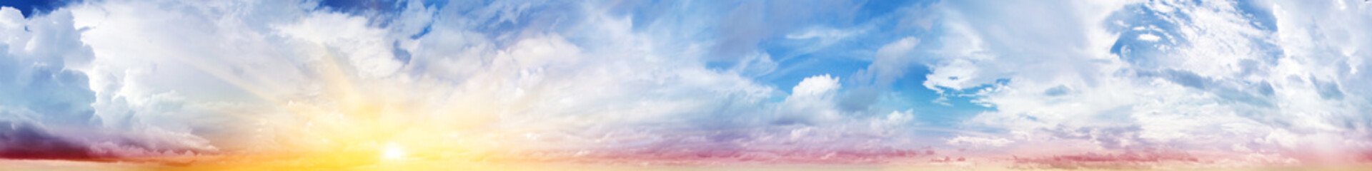 Colorful sky and clouds