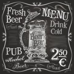 Oktoberfest vector logo design template.  retro beer mug or