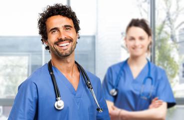 Two nurses portrait