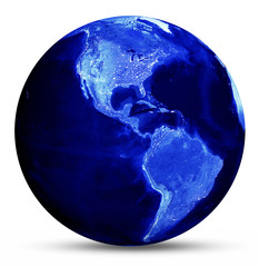 Earth blue map