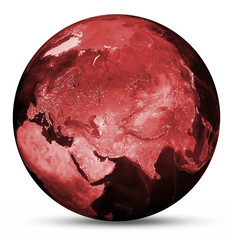 Earth red map