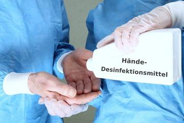 Händedesinfektionsmittel im OP