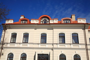 Building in the old town,fragment