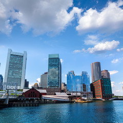 Boston Massachusetts skyline from Fan Pier