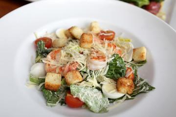 Plate with Caesar salad