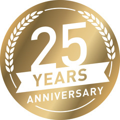 Button Gold 25 Years