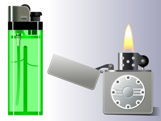 Gas and petrol lighter.
