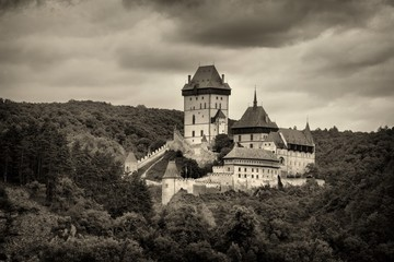 Historic castle in Karlstejn, Czech Republic