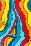 Multicolored graffiti