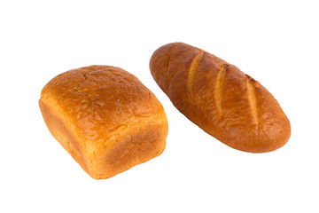 white bread loaf and the loaf