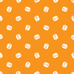 Vector minimalistic burger seamless pattern