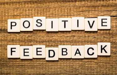 Positivity. Positive feedback concept