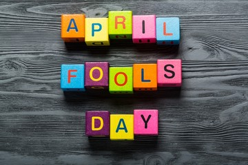 April. April Fool's Day card isolated on white background