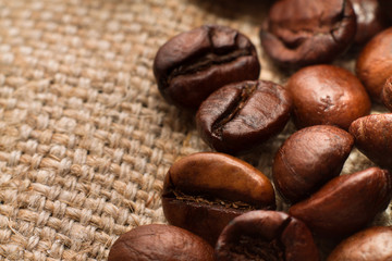 Кофейные зерна,макро