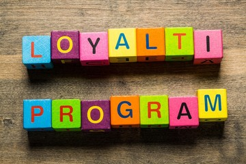 Program. Loyalty Program card with colorful background with