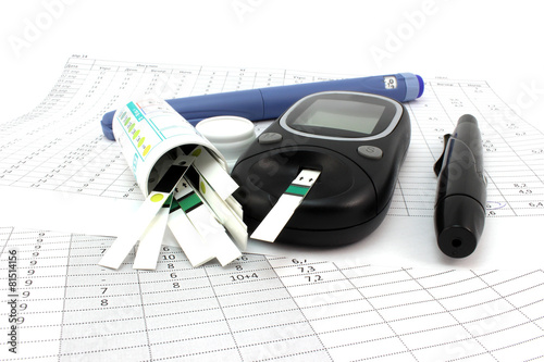 Glucometer test strips and insulin - 81514156