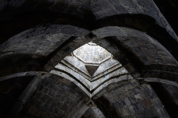 Arched ceiling of ancient christian church ,Armenia,Asia