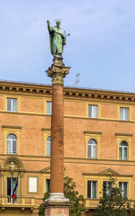 statue and column of Saint Dominico, Bologna, Italy