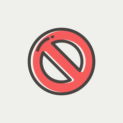 Not allowed thin line icon