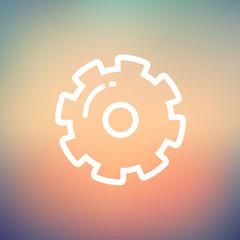 Gear thin line icon