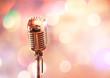 Leinwanddruck Bild - Retro microphone