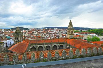 Panóramica de Santiago de Compostela, España