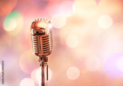 Fotobehang Muziekwinkel Retro microphone