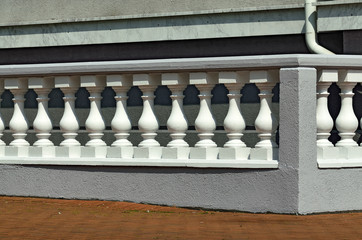 White balustrade