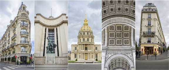 images of Parisian Architecture Collage