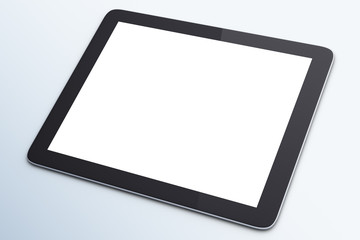 blank digital tablet