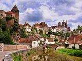 Picturesque medieval town of Semur en Auxois, Burgundy, France - 81516715
