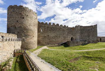 ancient castle of Ponferrada. Spain, the Bierzo