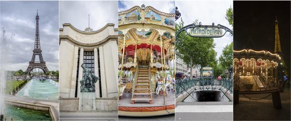 images of Paris Collage