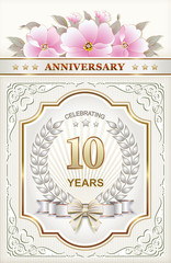 Postcard with the 10th anniversary