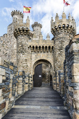 Home or main entrance of Templar castle in Ponferrada
