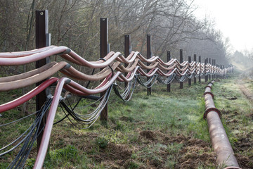 water system at coal surface mining hambach germany