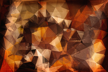 Polygon Machine Background With Abstract Orange Color
