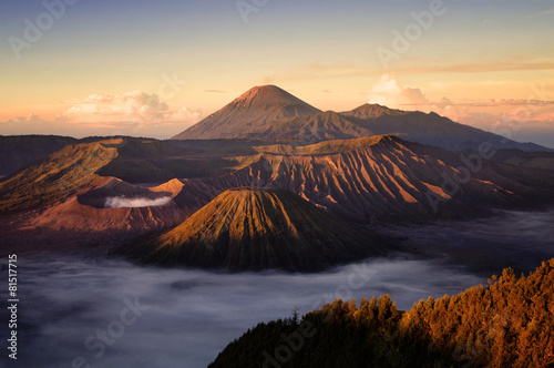 Staande foto Indonesië Bromo volcano in Indonesia