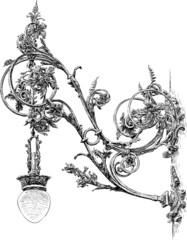 ornate antique street light