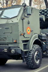 Front of a military vehicles