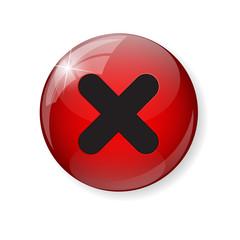 Red  Check Mark Icon Button Vector Illustration