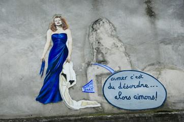 I Love You Wall, Montmartre, Paris, France
