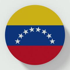 button Venezuela flag isolated on white background