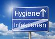 Hygiene Infektion Schild - 81519730
