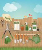 Summertime gardening at home