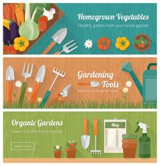Gardening and diy banner set